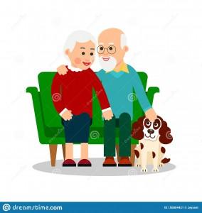 старые-люди-с-собакой-бабушка-и-дед-сидят-на-софе-рядом-щенком-пожилые-150804421